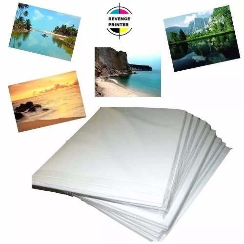 Papel Foto Glossy 130G A4 Brilho 100 Folhas Premium Oferta