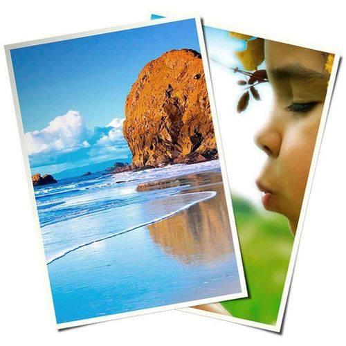Papel Fotográfico 10x15 Cm 265g Glossy Branco Brilhante Resistente à Água / 60 Folhas