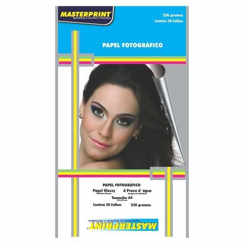 Papel Fotográfico A4 210mmx297mm 230g Embalagem com 20 Folhas Masterprint