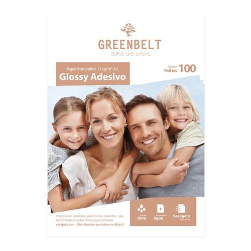 Papel Fotográfico Glossy Adesivo A3 115g Greenbelt 100 Folhas