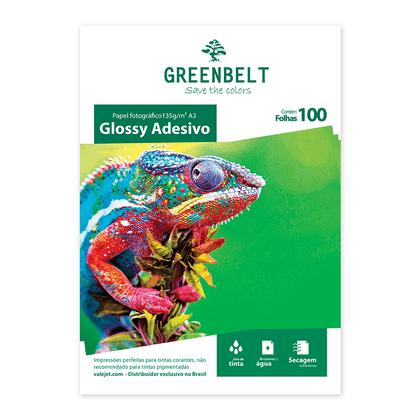 Papel Fotográfico Glossy Adesivo A3 135g Greenbelt 100 Folhas