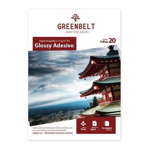Papel Fotográfico Glossy Adesivo A4 Greenbelt 115g 20 Folhas
