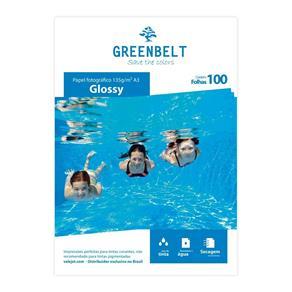 Papel Fotográfico Glossy Brilhante 135g A3 Greenbelt 100 Folhas