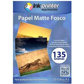 Papel Fotográfico Matte Fosco A3 135gr 20 Folhas