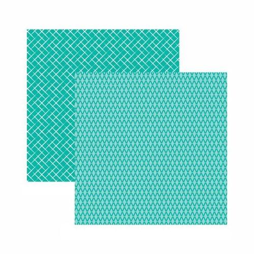 Tudo sobre 'Papel Scrapbook Toke e Crie 30,5x30,5 KFSB535 Azul Turquesa Xadrez'