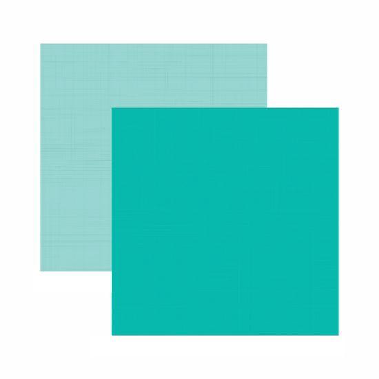 Tudo sobre 'Papel Scrapbook Toke e Crie 30,5x30,5 KFSB539 Azul Turquesa Liso'