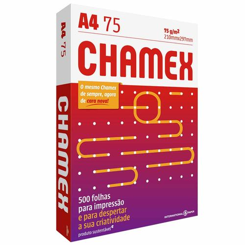 Papel Sulfite A4 Chamex Office 500 Folhas 240360