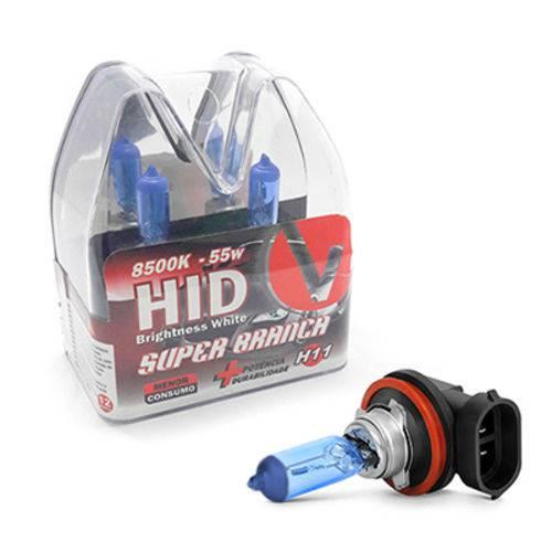 Par de Lampadas Super Branca H11 8500K 55w