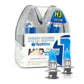 Par Lâmpada Super Branca H3 8500k 55w TechOne