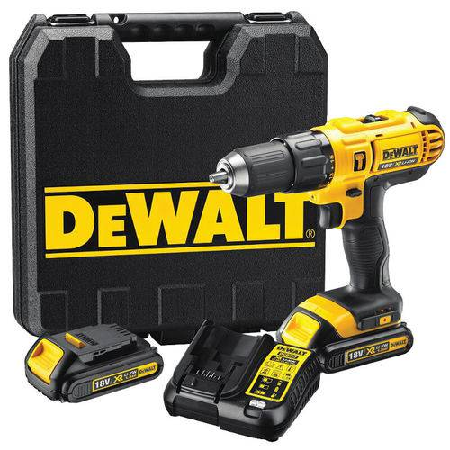Tudo sobre 'Parafusadeira Impacto 20v Biv Dewalt DCD776C2 com Maleta e 2 Baterias'