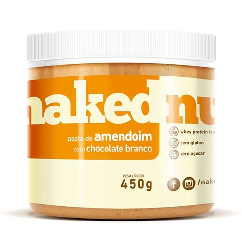 Pasta de Amendoim com Chocolate Branco 450g - Naked Nuts