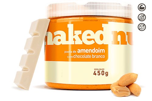 Pasta de Amendoim com Chocolate Branco - Naked Nuts - 450g