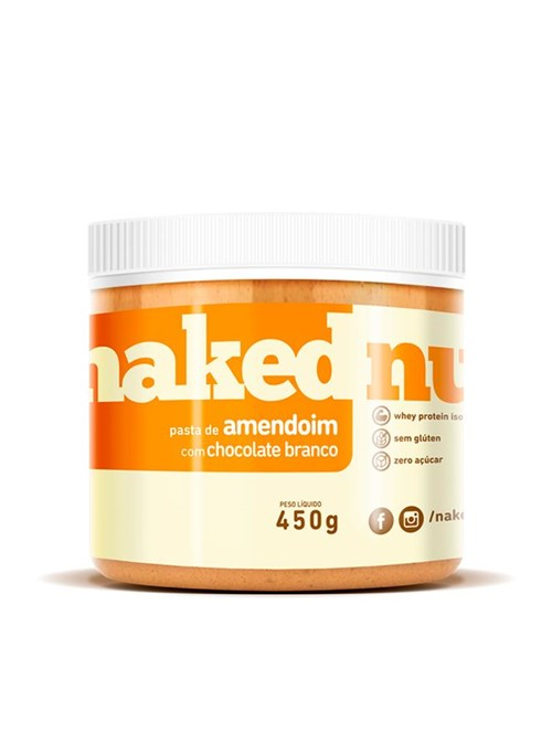 Pasta de Amendoim com Chocolate Branco Naked Nuts 450g