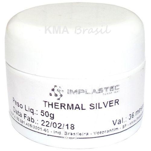 Pasta Térmica com Prata 50g Thermal Silver Processador Implastec