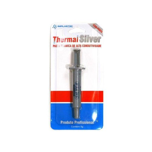 Pasta Termica Implastec 5g Seringa Thermal Silver