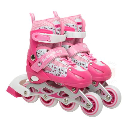 Patins Inline Hello Kitty Tam P (31 a 34) Rosa - Multikids Baby