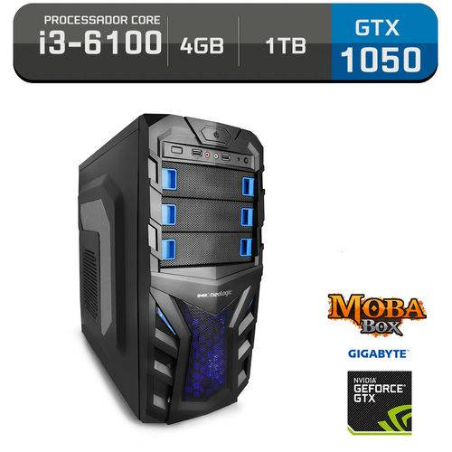 Tudo sobre 'PC Gamer Neologic Moba Box NLI57804 Intel Core I3-6100 4GB (Gtx 1050 de 2GB) 1TB'
