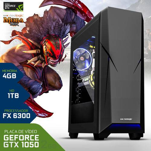 Tudo sobre 'PC Gamer Neologic Moba Box NLI67085 Amd FX6300 4GB (GeForce GTX 1050 2GB) 1TB'
