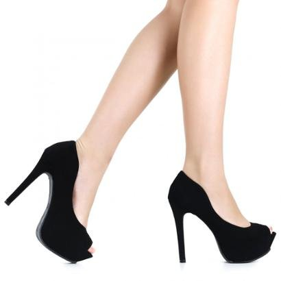 Peep Toe Zariff Shoes Meia Pata
