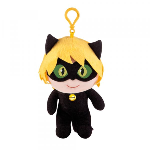 Pelúcia 21 Cm - Miraculous - Cat Noir - Multibrink