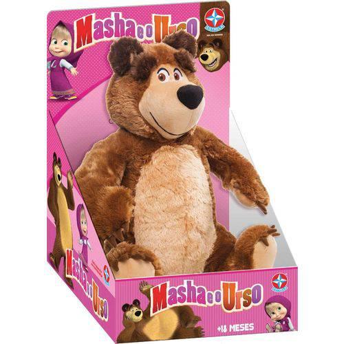 Pelucia Masha e o Urso 40cm. Urso Estrela