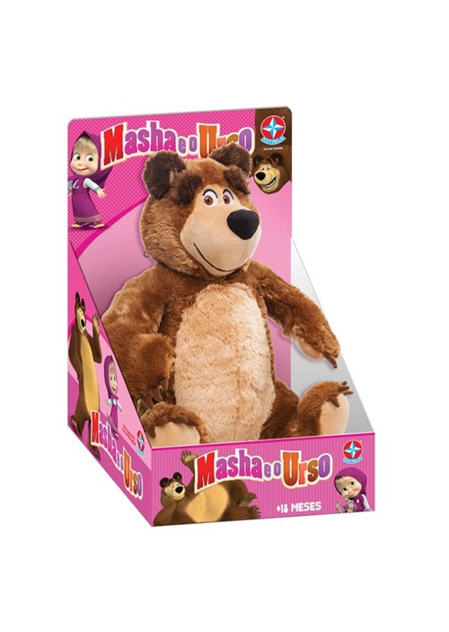Pelucia Urso da Masha e o Urso Estrela