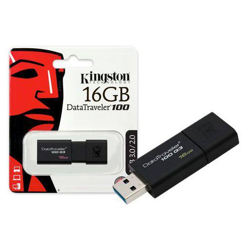 Pen Drive 16gb Dt100g3/16gb Usb 3.0 Datatraveler 100 Generation 3 Kingston