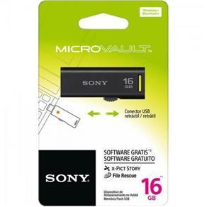 Pen Drive 16Gb Usm16Gr/B Preto Sony