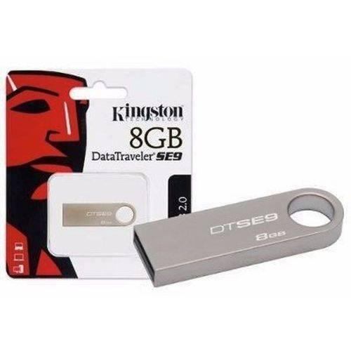 Pen Drive 8gb Kingston Data Traveler SE9 Prata Dtse9h/8gbz