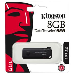 Pen Drive Datatraveler Se8 8Gb Usb 2.0 Preto Kingston