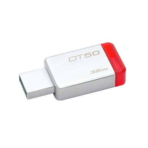 Pen Drive 32GB DT50/32GB Kingston USB 3.1 Metal Vermelho