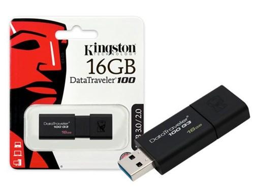 Pen Drive Kingston 16Gb Usb 3.0 Data Traveler - Dt100g3/16Gb