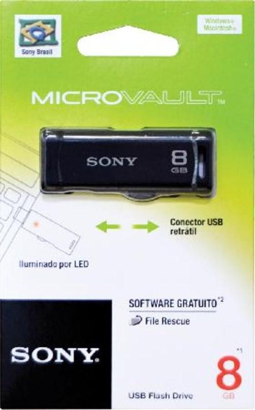 Pen Drive Sony Retrátil 8Gb Usm8gr