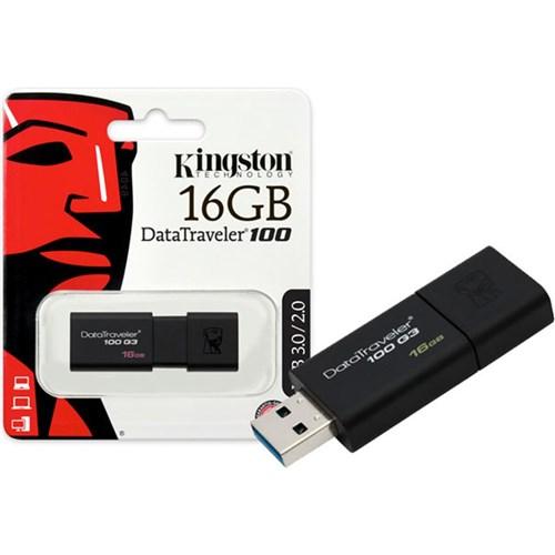Pen Drive Usb 3.0 16Gb - Datatraveler 100 Dt100G3 - Kingston