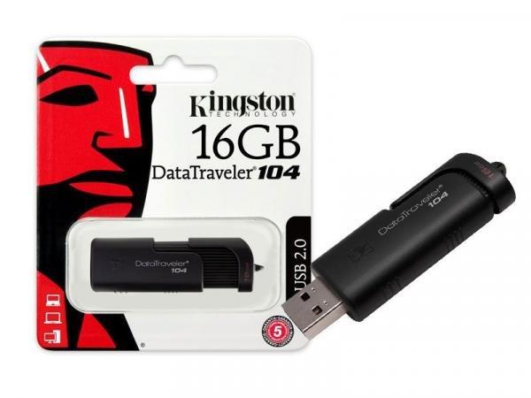 Pen Drive USB 2.0 Kingston DT104/16GB Datatraveler 104 16GB