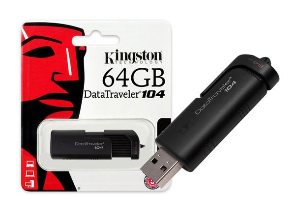 Pen Drive Usb 2.0 Kingston Dt104/64gb Datatraveler 104 64gb