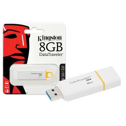 Pen Drive Usb 3.0 Kingston Dtig4/8gb Datatraveler 8gb Generation 4 Amarelo