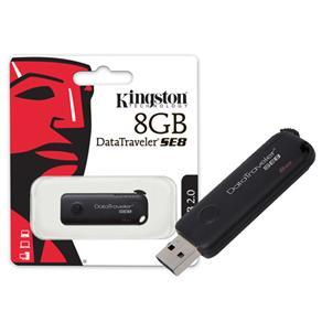 Pen Drive Usb 2.0 Kingston Dtse8/8Gb Datatraveler Se8 8Gb Preto