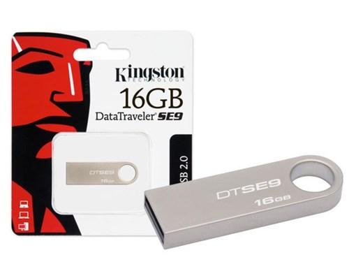 Pen Drive Usb 2.0 Kingston Dtse9h/16Gbz Datatraveler Se9 16Gb Prata