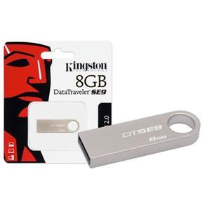 Pen Drive Usb 2.0 Kingston Dtse9H/8Gbz Datatraveler Se9 8Gb Prata