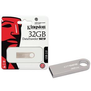 Pen Drive Usb 2.0 Kingston Dtse9H/32Gbz Datatraveler Se9 32Gb Prata