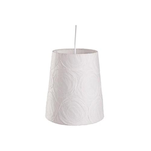 Pendente Cônico para 1 Lâmpada Safira Branco 25Cm