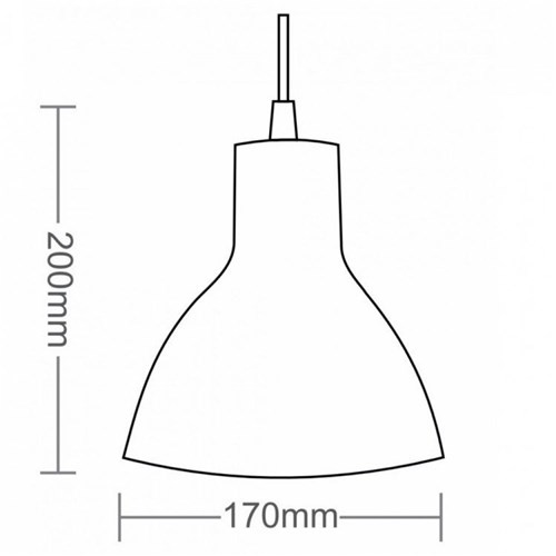 Pendente Cônico para 1 Lâmpada Td622/1 Taschibra Preto