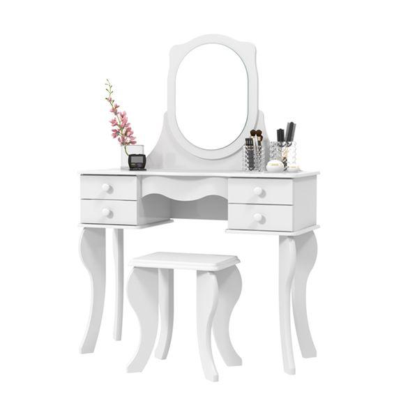 Tudo sobre 'Penteadeira Princesa com Espelho - Branco'