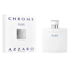 Perfume Azzaro Chrome Pure Masculino Eau de Toilette 100ml