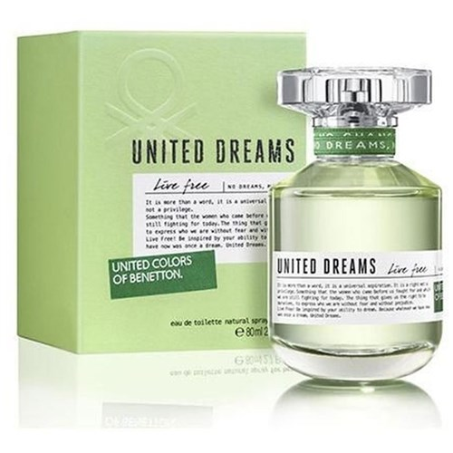Perfume United Dreams Live Free 80Ml Edt Feminino Benetton