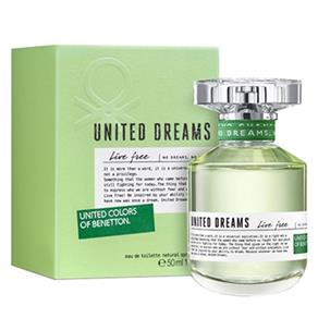 Perfume United Dreams Live Free EDT Feminino Benetton - 50 Ml