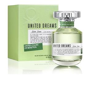 Perfume United Dreams Live Free Edt Feminino Benetton - 80 Ml