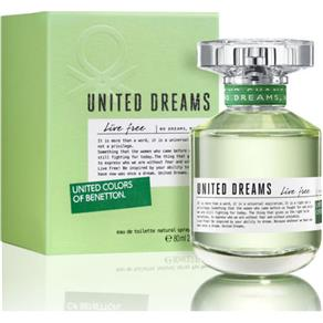 Perfume United Dreams Live Free EDT Feminino Benetton