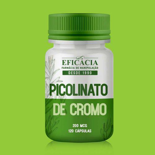 Picolinato de Cromo 200mcg - 120 Cápsulas